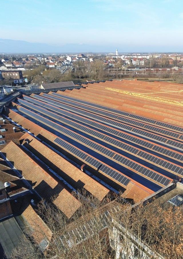 1300m² de panneaux photovoltaïques installés au Musée de l'Auto